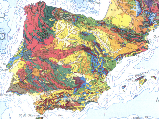 Map Of Spain Mountains.Physical Geography And Geology Of Spain