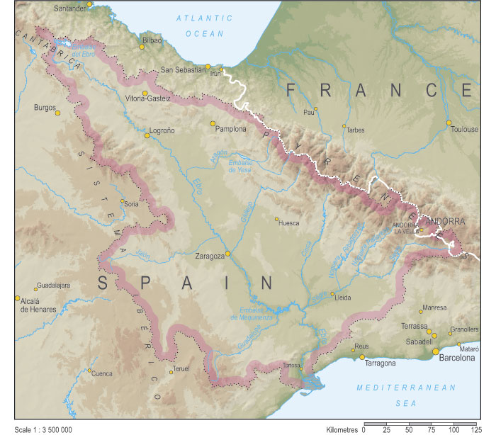 Map Of Spain Ebro River.The River Ebro